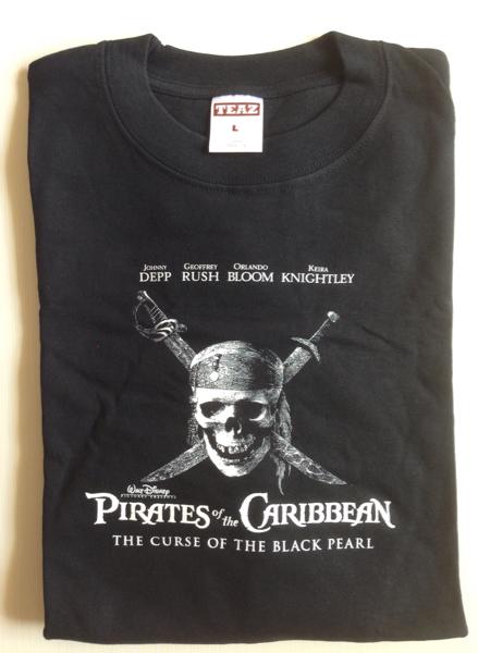 【未使用非売品】『パイレーツ・オブ・カリビアン』DVD発売記念イベント ロングスリーブT-shirts_画像1