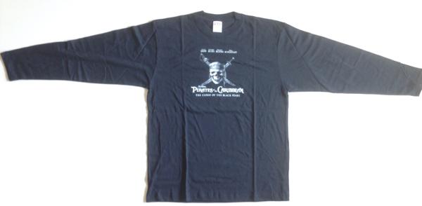 【未使用非売品】『パイレーツ・オブ・カリビアン』DVD発売記念イベント ロングスリーブT-shirts_画像2