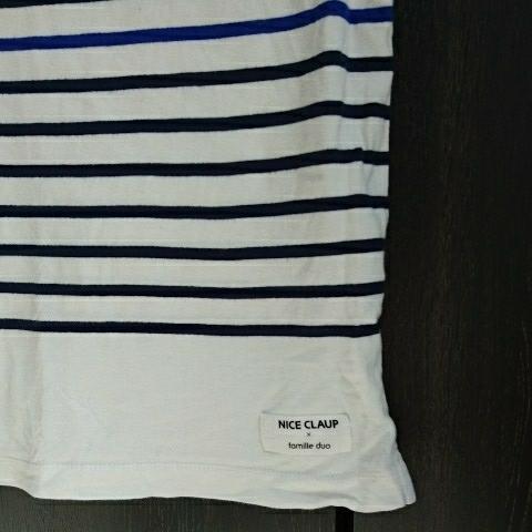 NICE CLAUP ボーダー Tシャツ ナイスクラップ Mサイズ_画像2
