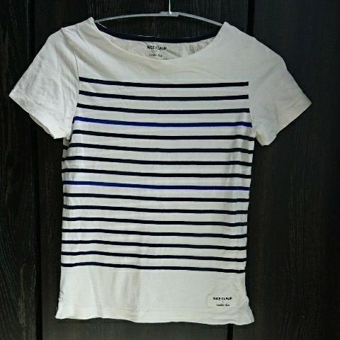 NICE CLAUP ボーダー Tシャツ ナイスクラップ Mサイズ_画像1