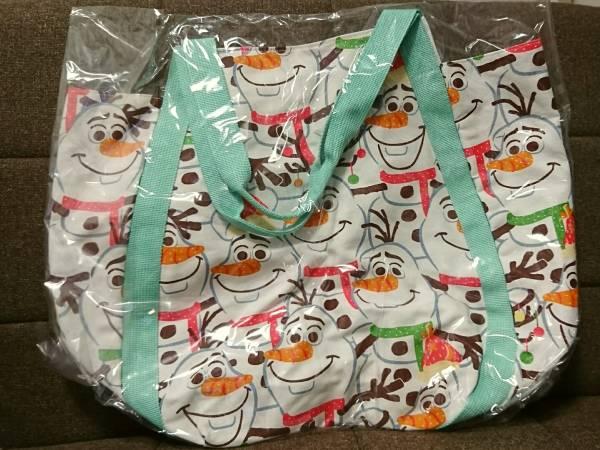 オラフ アナ雪 ディズニー トートバッグ クリスマス 2015 TDL ディズニーグッズの画像