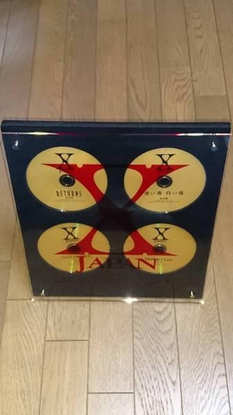 X JAPAN★TOKYO DOME LIVE 4DVD-BOX購入プレゼント ゴールドディスク4枚 ディスプレイ★TOSHIYOSHIKIhide
