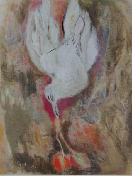 脇田 和、桜桃と鳥、希少画集画、新品額装付、salt 絵画&油彩&自然、風景画