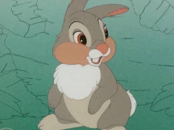 ディズニーセル画 バンビより They Call Me Thumper ! 未使用品 ディズニーグッズの画像