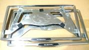 スバル『SUBARU』純正ナンバーフレーム 2枚 レガシィ レヴォーグ フォレスター インプレッサ アウトバック プレオ ステラ BRZ サンバー 等