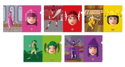 ももいろクローバーZ☆ももクロ大冒険ⅢA4クリアファイル☆ ライブグッズの画像