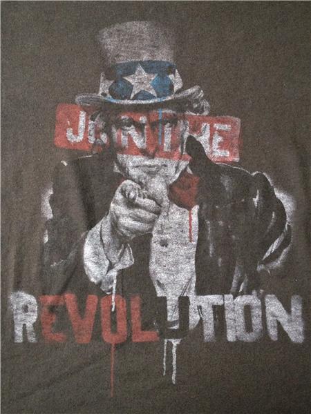 アンクルサム UNCLE SAM JOIN THE REVOLUTION Tシャツ JUNKFOOD ジャンクフード USA製 アメリカ製 革命に参加せよ