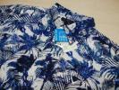 新品 Callaway キャロウェイ メンズ 半袖ポロシャツ パームツリーカモ柄 吸汗速乾 ネイビー sizeL 正規品