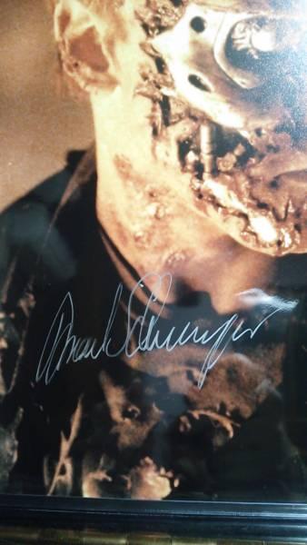 ターミネーター2 直筆サイン 証明書付き autograph シュワル ツェネガー