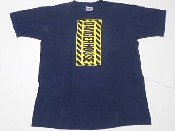 DANGERHOUSE RECORDS 90年代 ヴィンテージ Tシャツ シングルステッチ 黒 検 blink182 suicidal tendencies sublime greenday