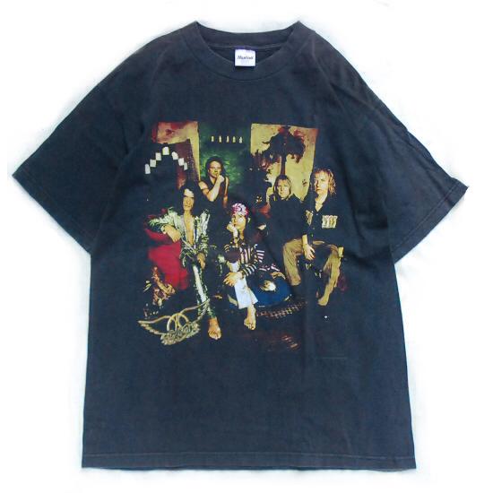 USA製■'97 エアロスミス Nine Lives ツアー バンドTシャツ L■ AEROSMITH バンT ロック メタル アメリカ古着 ヴィンテージ 90's メタリカ