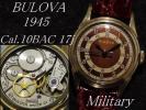 1945年 BULOVA 24時間表記 ツートンダイアル Cal.10BAC 軍用 ミリタリー アンティーク手巻腕時計※風防は未使用品に交換しております。