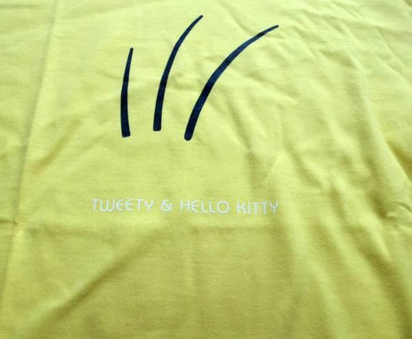 TWEETY&HELLOW KITTYトゥイーティー&ハローキティコラボTシャツby伊勢丹Sサイズ_画像3