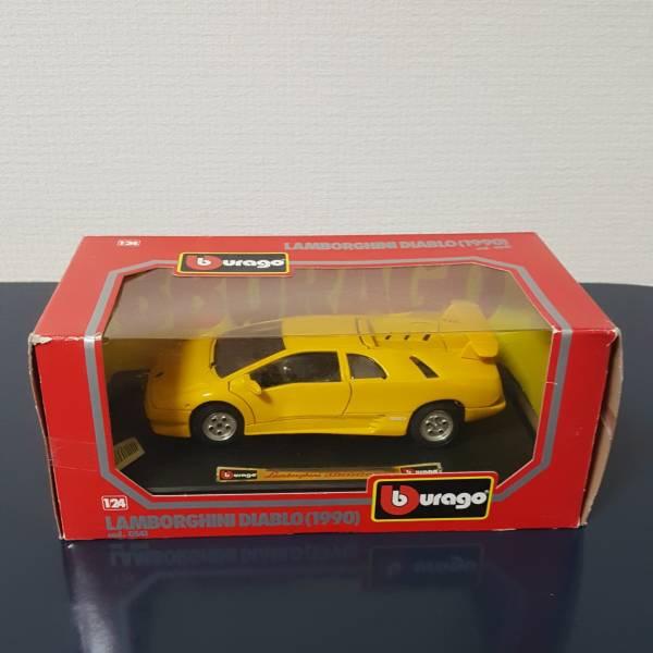 New Goods Unopened Lamborghini Diablo Yellow 1 24 Bburago 1990 Real