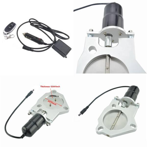 【新品】消聲器可變電動閥ECV通用型52毫米遙控器規格不銹鋼閥套件直管消音器焊接不必要體積對策擋板 編號:v582393251
