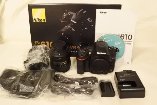 ■超美品■Nikon ニコン フルサイズ D610 24-85 VR レンズキット ■付属品一式■未記入保