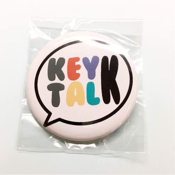 KEYTALK モンスターカラーロゴ ふきだし 缶バッジ 新品 バッヂ バッジ バッチ キートーク