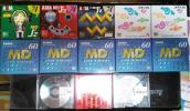 ★送料無料★MDディスク13枚(新品・未開封10枚+中古3枚)Konica/AXIA/XEUS/TDK/ミニディスクまとめて