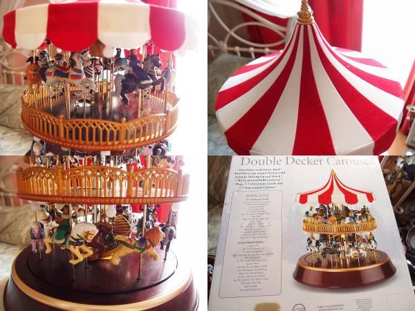 ★Mr Christmas Double Decker Carousel ミスタークリスマス メリーゴーランド カルーセル 2階建て 30曲_画像3