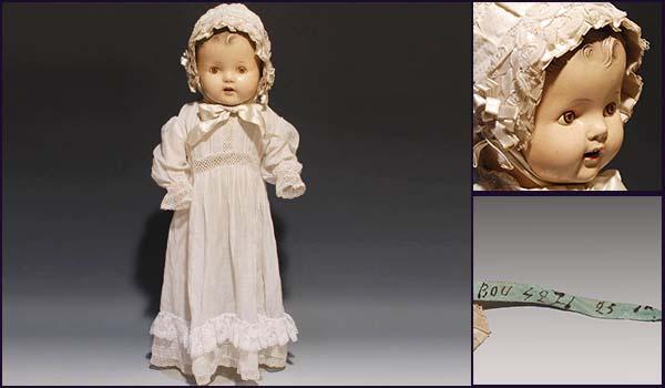 アンティークドール ベイビー コンポジションドール H52cm 西洋人形 西洋美術 その他 a4583_画像1