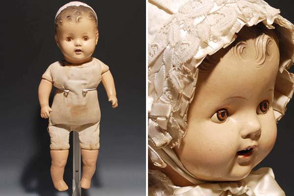 アンティークドール ベイビー コンポジションドール H52cm 西洋人形 西洋美術 その他 a4583_画像2