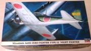 ハセガワ 1/48 三菱 零式艦上戦闘機 五二型 '夜間戦闘機'