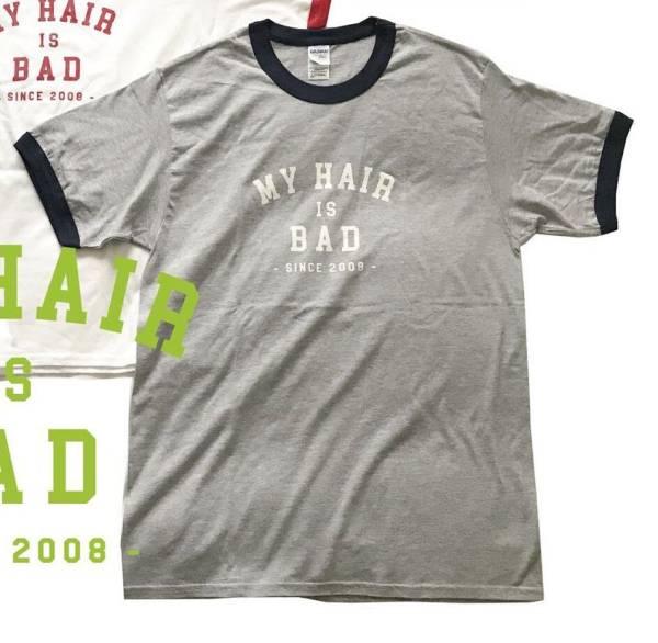 My Hair is Bad リンガー Tシャツ(L)