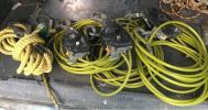【売り切り】ワイヤーロープ緊張機3本セット+親綱ロープ1セット