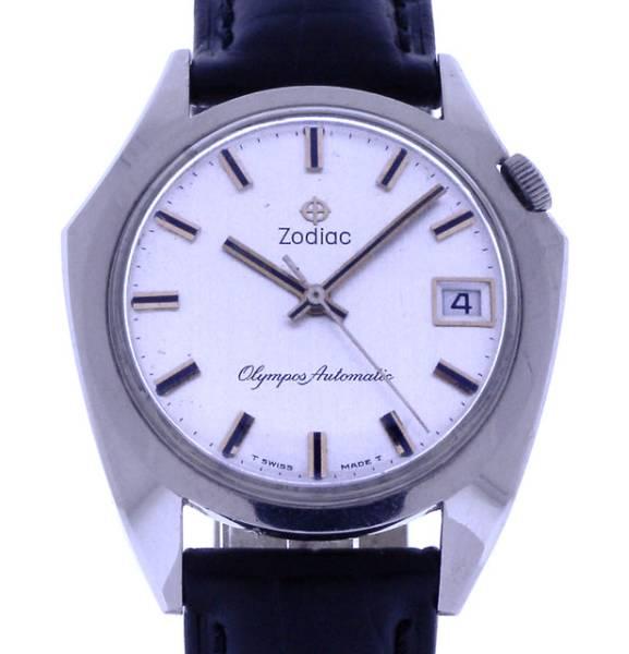 ヴィンテージ1970年代製ZODIACゾディアック自動巻バットウォッチ美品_画像1