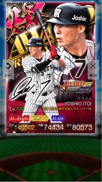 プロ野球 プライド PRIDE 2爆 限定 アワード AW 糸井 阪神 覚醒 5+35G4