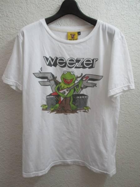 weezer ウィーザー SOCIETY マペットマイティフロッグ バンドTシャツ ロックTシャツ メンズM ホワイト 白 スマートレター180円対応可能
