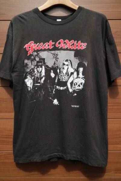 90's GREATWHITE バンドTシャツ ビンテージ メタル TESLA DOKKEN RATT QUIET RIOT