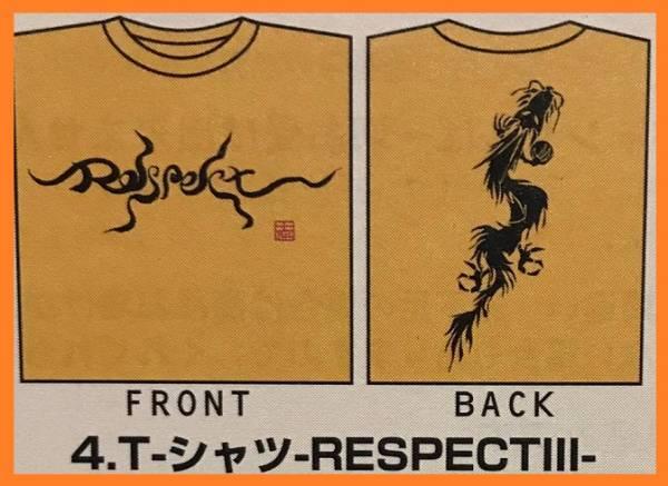 ◆即決◆新品◆稲葉 Respect Tシャツ -RESPECTⅢ-◆Live-Gym′99 Brotherhoodツアーグッズ  リスペクト