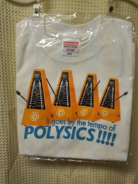 07 バンドTシャツ ポリシックス メトロノーム 白 未開封 XS