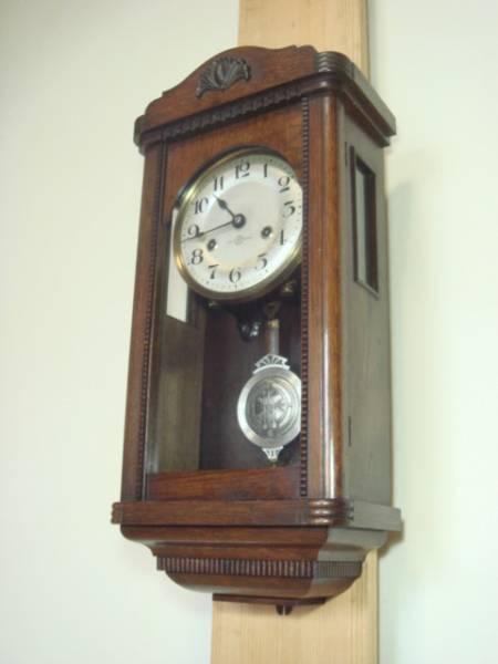 精工舎★座敷時計★小角丸★八日巻スリゲル手巻き時打ち 振子 掛け時計 可動品