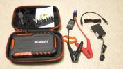 suaoki G7 18000mAh大容量 ジャンプスターター モバイルバッテリー 12V車 スマートブースターケーブル モバイル充電 LEDライト付 オレンジ