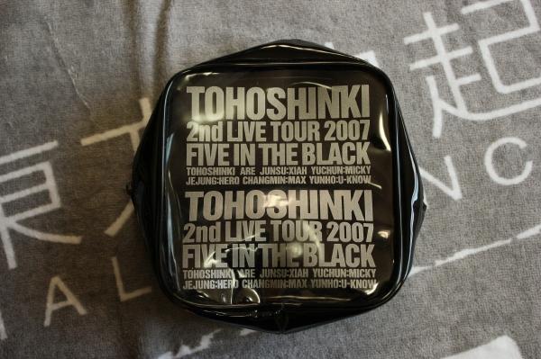 東方神起 2nd LIVE TOUR FIVE IN THE BLACK 公式グッズ ポーチ