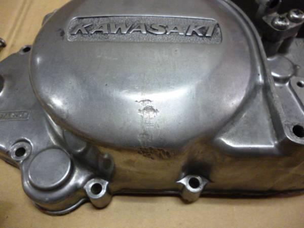 程度良好!!KH250KH400前期型?クラッチカバー大文字KAWASAKI SS250SS350SS400SS_画像2