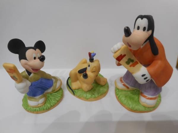 ディズニー ミッキー、プルート、グーフィ 陶器の置物 ディズニーグッズの画像