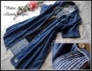 ◆新品3L◆インディゴブルー系*擦れ感色落ちカッコイイ薄手ロングデニムシャツ*羽織りも♪