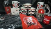 Jリーグ♪浦和レッズ★さいしん非売品スープカップ5個&マグカップ2個&タオル&貯金箱&ストローカップ&保冷タンブラー他計12点
