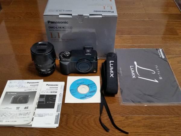 希少、美品  Panasonic デジタル一眼レフカメラ  DMC-L1K-K  ライカDバリオ・エルマリートレンズL-ES014050  付属品多数