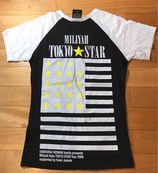 【現在入手困難品】加藤ミリヤ 2008年 TOKYO STAR ツアーグッズ Tシャツ KAWI JAMELE MILIYAH ライブグッズの画像