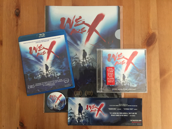 【美品】【青盤セット】XJAPAN WE ARE X Blu-ray(輸入盤)/CD(輸入盤) + 限定グッズ(クリアファイル・缶バッジ・ステッカー) yoshiki XJAPAN ライブグッズの画像