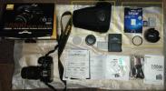 NIKON D5500 レンズキット ブラック ボディ+交換レンズ AF-S DX NIKKOR 18-55mm f/3.5-5.6G VR II (追加:64GB SD + バッテリー + 他)