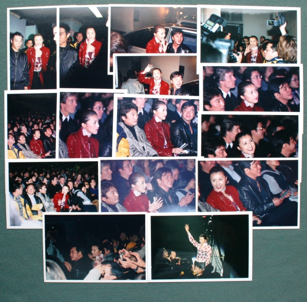 雅雑§(6)生写真[藤原紀香/珍しい昔の30枚セットwithアーロン・クォック] 2000年香港映画「SPY-N」プレスカンファレンス