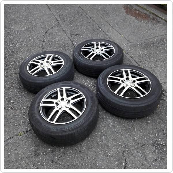 エンケイ製 タイヤ付アルミホイール4本セットステップワゴンRF 5使用 15インチ6J 195/65-15 ダンロップ16年製造年&ヨコマハ 14年製車検用に