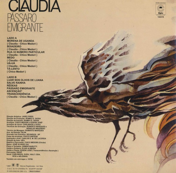 即決(LP)PASSARO EMIGRANTE/CLAUDIA_画像2