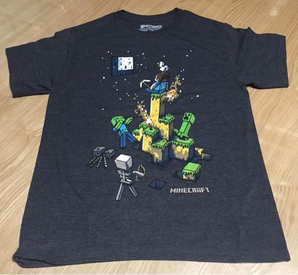 マインクラフト Tシャツ L G 8-9歳 新品未使用 Minecraft 約130 センチ 子供用 キッズ 送料164円 グッズの画像