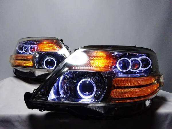 アルファード 10 後期 LS600 V36 プロジェクター LEDイカリング ヘッドライト ヘッドランプ ワンオフ カスタム 加工品 左右